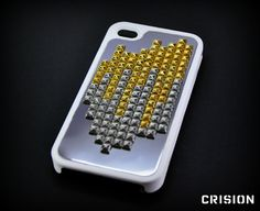 Iphone 4/4s case  Iphone 4/4S cover  white studded case by CRISION, €25.00