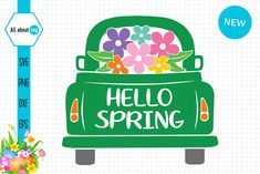 Hello #Spring #Truck Hello Spring Truck Creative Resume Templates, Design Templates, Programing Software, Hello Spring, Design Bundles, School Design, Cricut Design, Free Design, How To Draw Hands
