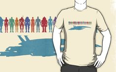 Mass Effect Color Characters T-Shirt