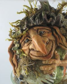 "Meet ""Mulligan"". He's a whimsical woodland character sculpted by Jayne Ayre of Kismet Clay Designs....."