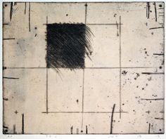表面2 copperplate print (etching) with chine collé 林孝彦  HAYASHI Takahiko 1982