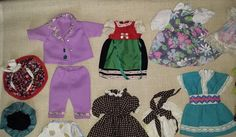 Huge Lot Vintage Baby Doll Clothes,Lovely