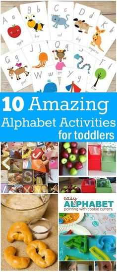 Alphabet Activities For Toddlers: Try these simple alphabet games/activities and have a great fun with your toddlers.