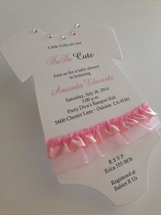 TuTu Onesie Baby Shower Invitations with by ItsAPerfectParty