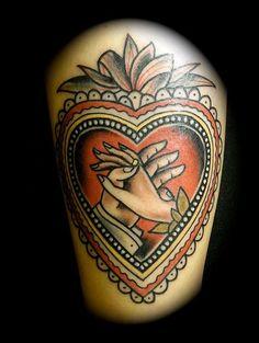 Heart Old School - Two hands