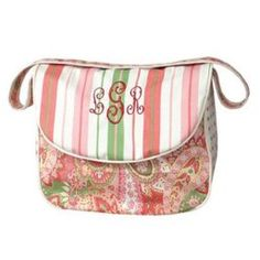 Cute paisley diaper bag