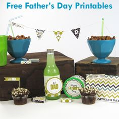 Fathers Day Free Printables - Free Printable Card, Banner, Candy Bar Wrappers & More