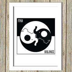 Get $5 toward your first Etsy purchase! Redeem now or use later to buy something you'll love. http://etsy.me/1y0oVVY via @etsy Yin Yang Elephants Funny Yin Yang by HappyHouseNo1