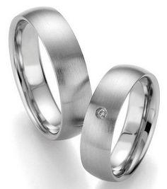 Trauringe Colorado Springs  Edelstahlringe  Damenring mit 1 Diamanten, 0,02 ct,  Ringbreite: 6,0 mm,  Stärke: 1,8 mm,  Oberfläche: strichmattiert