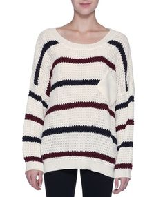 Slouchy striped sweater... i have an unhealthy obsession with sweaters and i don't care