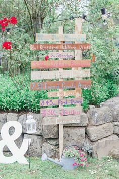 Rustic wooden order of the day sign post - at home rustic tipi wedding in hastings Rustic Wedding Backdrops, Tipi Wedding, Wedding Signage, Wedding Table, Our Wedding, Wedding Decorations, Wedding Ideas, Wedding Ceremony, Wedding Stuff