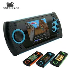 Data frog Portable 3 Inch 16 Bit Handheld Game Console Players Gaming Consoles Build In 100 Classic Games MP3 MP4 Game Player