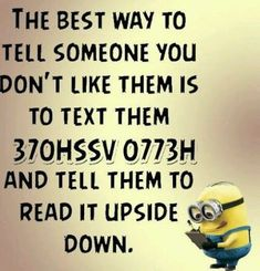 "Today we make you laugh by using these ""Top Quotes Minions Funny"". You just scroll down and keep reading these ""Top Quotes Minions Funny"". Funny Minion Memes, Funny Jokes To Tell, Minions Quotes, Funny Fails, Funny Texts, Hilarious Jokes, Minions Minions, Evil Minions, Epic Texts"