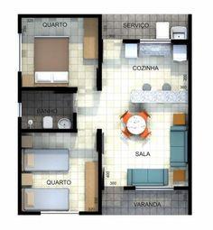 - Como diseñar - (notitle) The price reac. Little House Plans, Dream House Plans, Small House Plans, House Floor Plans, Bungalow House Design, Small House Design, Plan Hotel, 2 Bedroom House Plans, Model House Plan