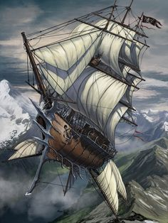 Some take to the sky for plunder!  (Skyship by BenWootten on deviantART)