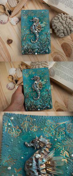 #seahorse #polymerclay #ellenrococo #artjournal #journal