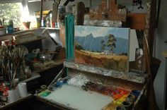 On my easel John Smith, Easel, South Africa, Paintings, Gallery, Artist, Flip Charts, Paint, Roof Rack
