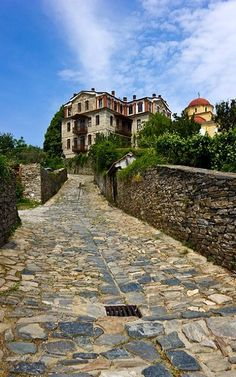 Karyes, Mount Athos, Greece   by Christos C. Cyprus Greece, Empire Ottoman, Gfx Design, The Holy Mountain, Macedonia, Design Reference, Beautiful Places, Visit Greece, Greek