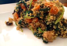 Recipe for quinoa with spinach, carrot and turkey Quinoa Stir Fry, Great Recipes, Healthy Recipes, Healthy Food, Quinoa Grain, Diet Inspiration, Dukan Diet, Grain Foods, Spinach Stuffed Chicken