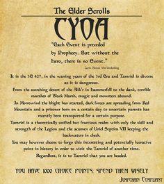 CYOA Elder Scrolls