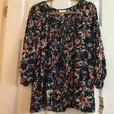 NWT Charter Club sheer flowy shirt This is the perfect shirt for next season! Great for a gift or for yourself! Adorable print and breathable fabric. Never worn Charter Club Tops Blouses