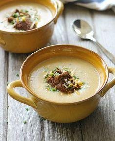Cauliflower Potato &     Cauliflower Potato & Leek Soup- rich, creamy and comforting yet completely dairy-free!  #vegan   #cleaneating   https://www.pinterest.com/pin/87749892717212909/   Also check out: http://kombuchaguru.com