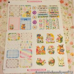 Dress up your planner layout with these lovely Vintage Easter theme stickers.