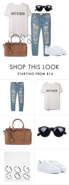 """Untitled #340"" by charlotte-down on Polyvore featuring MANGO, Burberry, ASOS and adidas"