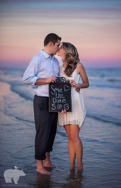 beach engagement session - The Bird and The Bear