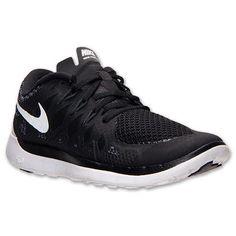 NEW NIKE FREE 5.0 Womens 7.5 (6Y) Black White Running NIB #Nike #