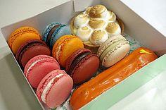 Pastries @ Bottega Louie, takeaway macarons! Yes please!