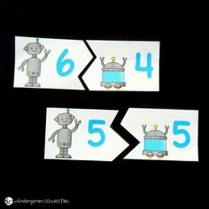 Make learning sums of 10 super fun with these engaging free printable robot sums of 10 puzzles! They are a great addition math center for kids! Counting Books, Counting Activities, Free Activities, Student Learning, Fun Learning, Rainbow Facts, Teaching Strategies, Worksheets For Kids, Kindergarten Math