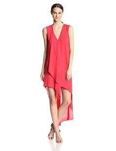 Amazon.com: BCBGMAXAZRIA Women's Tara Tiered Asymmetrical-Hem Dress: Clothing