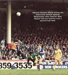 Everton 2 Sheffield Wed 1 in April 1986 at Villa Park. Alan Harper opens the scoring for Everton in the FA Cup Semi Final.