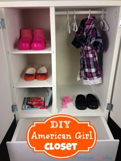 How to make an American Girl Closet Armoire. This build was quick and easy! It was nice to have a place for all of my American Girl accessories!