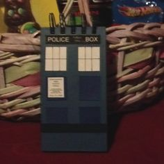The Easter Bunny created a TARDIS notebook from a Walmart clearance item. My little Whovian will be none the wiser.