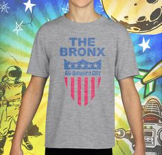The Bronx All America City Sport Grey Youth's Performance Tee