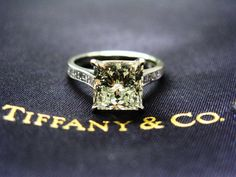 Tiffany Engagement Ring :D lovvve it! But round stone instead of square!!!