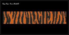 Tigger Tiger Cuff - Bead Loomed Pattern **INSTANT DOWNLOAD pdf**