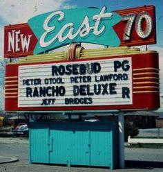 Back When...... Drive Inn Movies, Drive In Movie Theater, Jeff Bridges, Main Street America, Nightclub Design, American Dreams, Vintage Diner, Outdoor Cinema, Vintage Neon Signs