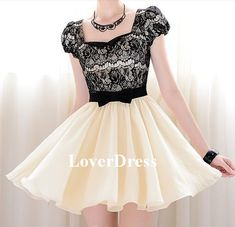 Lace Short Prom Dress Mini Prom Dress Lace Cocktail by LoverDress