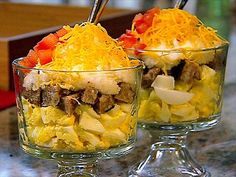 Breakfast Trifle Grits Recipe : Patrick and Gina Neely : Food Network Grits Breakfast, Breakfast Dishes, Breakfast Recipes, Breakfast Ideas, Brunch Ideas, Breakfast Time, How To Cook Grits, Food Network Recipes, Cooking Recipes
