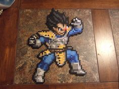 The Prince of all Saiyans - Vegeta! - Perler bead sprite by FullMetal6 on deviantart