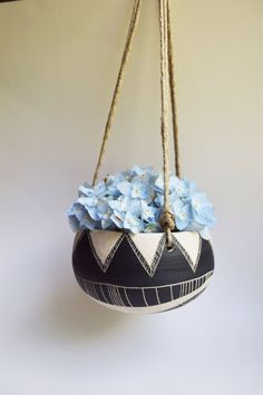 T R I B A L : ceramic hanging planter by mbundy on Etsy