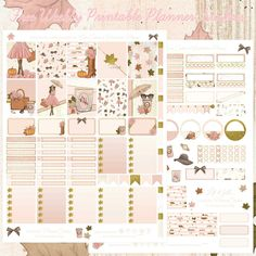 Free Fall Fashion printable spread for the Erin Condren & Recollections Planner - Planner Onelove