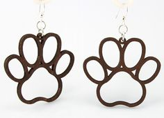 We made these laser-cut earrings and just had to paws for a moment. We were so proud.  Throw yourself a bone with these lightweight, sustainable wood earrings made in the USA! Ear wires are silver-finished 3041 stainless steel with new electrophoretic-coating that resists tarnishing. And look how many water-based colors they come in! Fun Fact: Dewclaws are actually the remnants of a rudimentary fifth toe. If dogs could, they would give these earring two dew claws up!