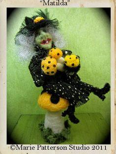 Matilda-needle felt art doll by Marie Patterson Studio by Marie Patterson, via Flickr