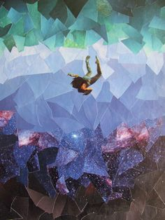 Swimming Toward The Stars  Original Collage by ARTintersect, $120.00