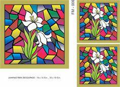 FOLHAS DE DECOUPAGE DECOPAPER: MOSAIC FALSE FOLHAS 16x16 - 10x10 CM.