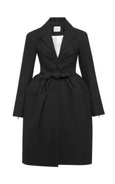 Woven Peplum Coat by DELPOZO Winter Outfits Women bc6785c33010a